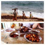 Diner et rencontre en plage
