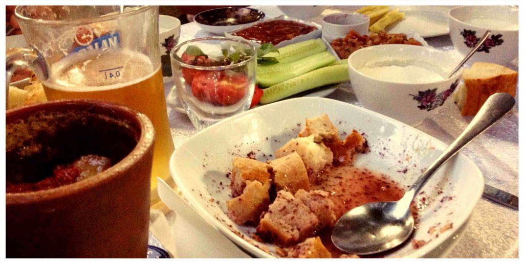 sheki, repas traditionnel et piti