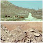 volan de boue et routes en cailloux