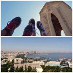 monument au mort et vues baku azerbaidjan