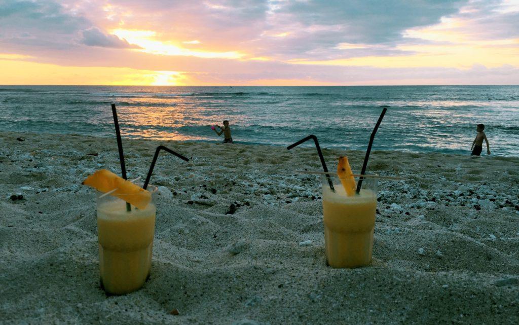 cocktail bord de l'océan à la réunion