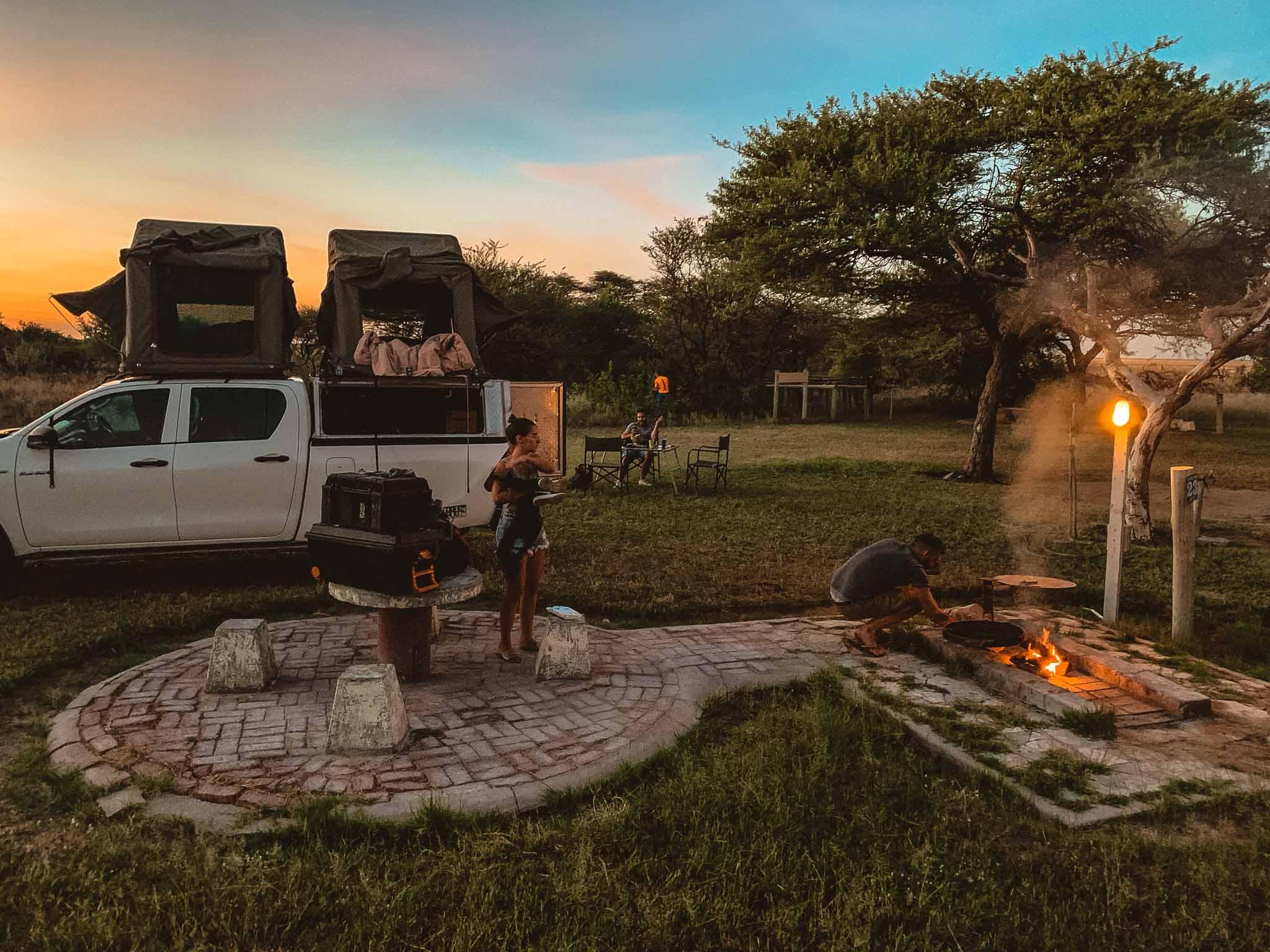 braii et barbecue campsite etosha