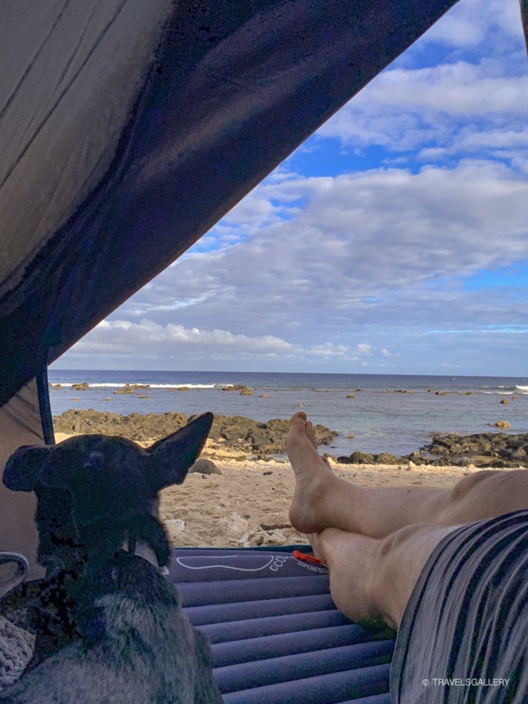 Bivouac à la réunion sur la plage
