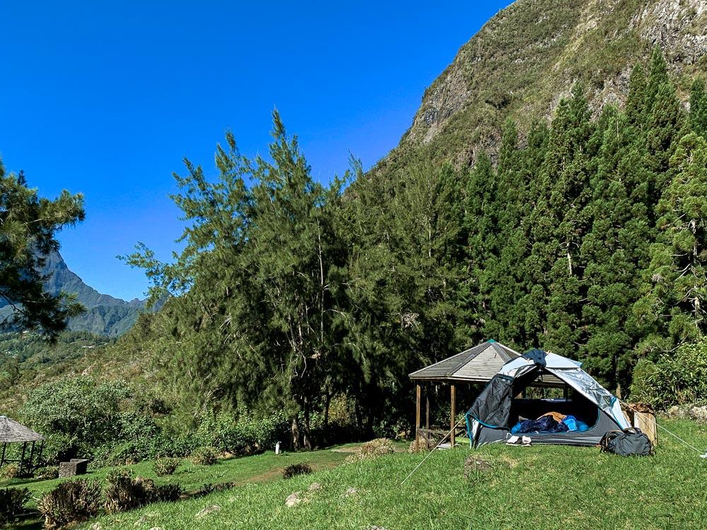grand ilet bivouac au cirque de salazie de La Réunion
