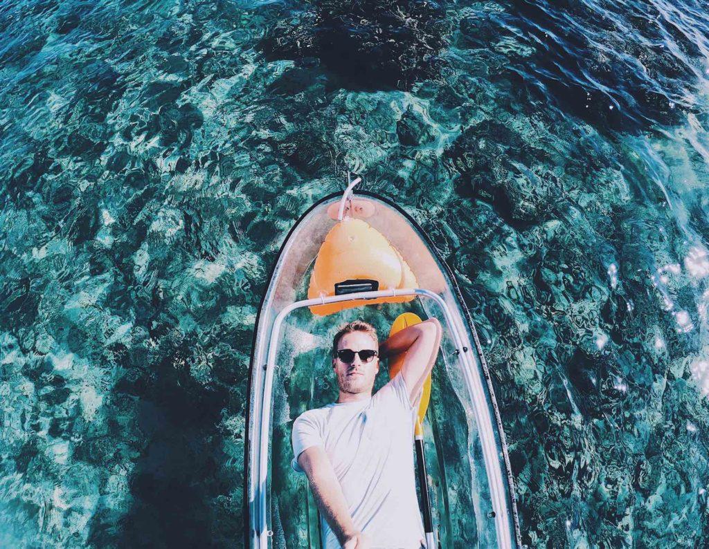 kayak transparent la réunion ouest
